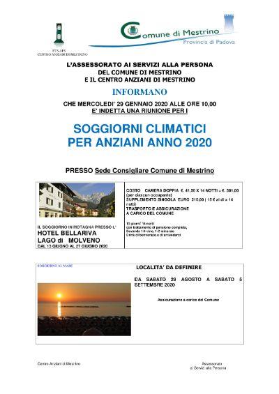 Comune di Mestrino - Riunione per i soggiorni climatici ...